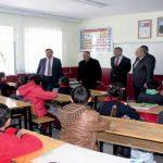 İlçe Kaymakamı ve İlçe Milli Eğitim Müdürü Kurugöl Okullarını Ziyaret Etti