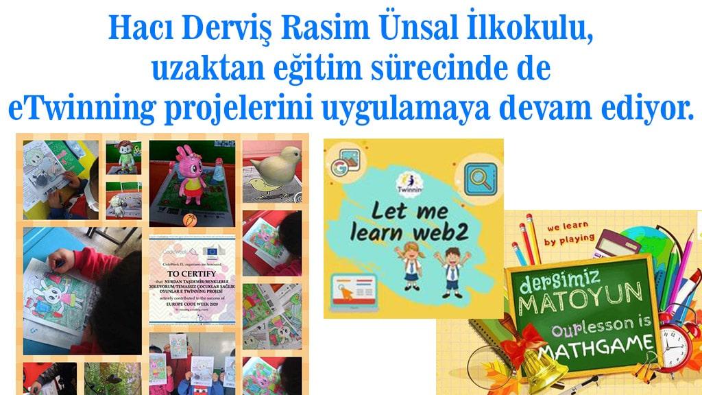 Çocuklar için eTwinning projeleri uygulanıyor...
