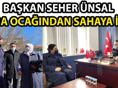 Başkan Seher ÜNSAL Mucur'da Ziyaretler Gerçekleştirdi.