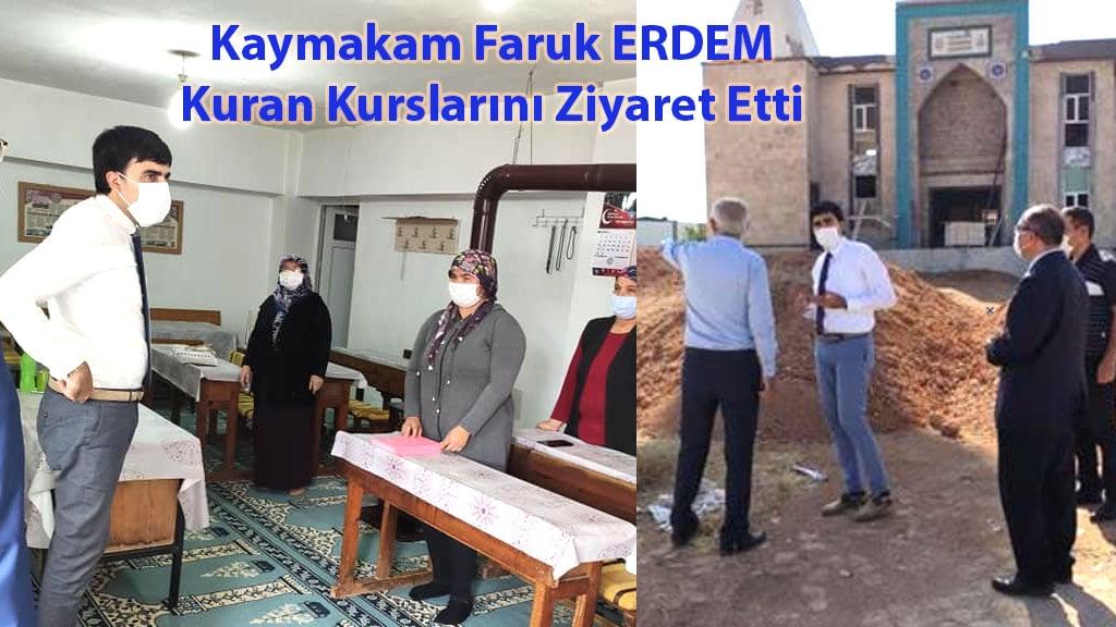 Kaymakam Faruk ERDEM Kuran Kurslarını Ziyaret Etti