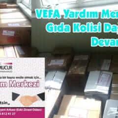 VEFA Yardım Merkezinde Gıda Kolisi Dağıtımları Devam Ediyor