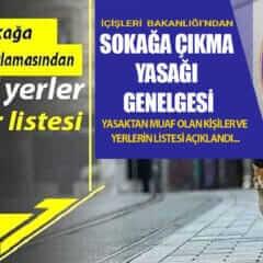 29 Nisan İle 17 Mayıs arası Sokağa Çıkma Yasağı Uygulanacak…