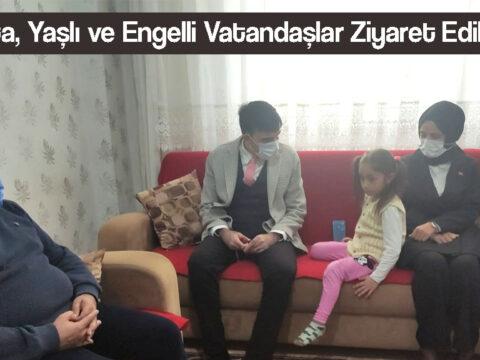 Yaşlı ve Engelli Vatandaşlar Ziyaret Edildi